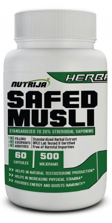 Buy Safed Musli Extract 500MG Capsules Supplement in India