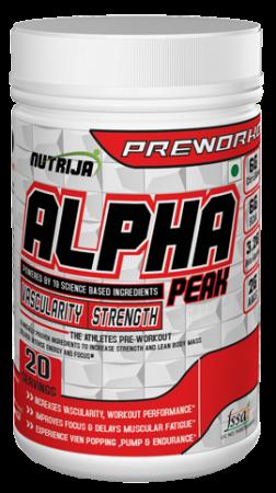 Alpha Peak Preworkout Supplement in India
