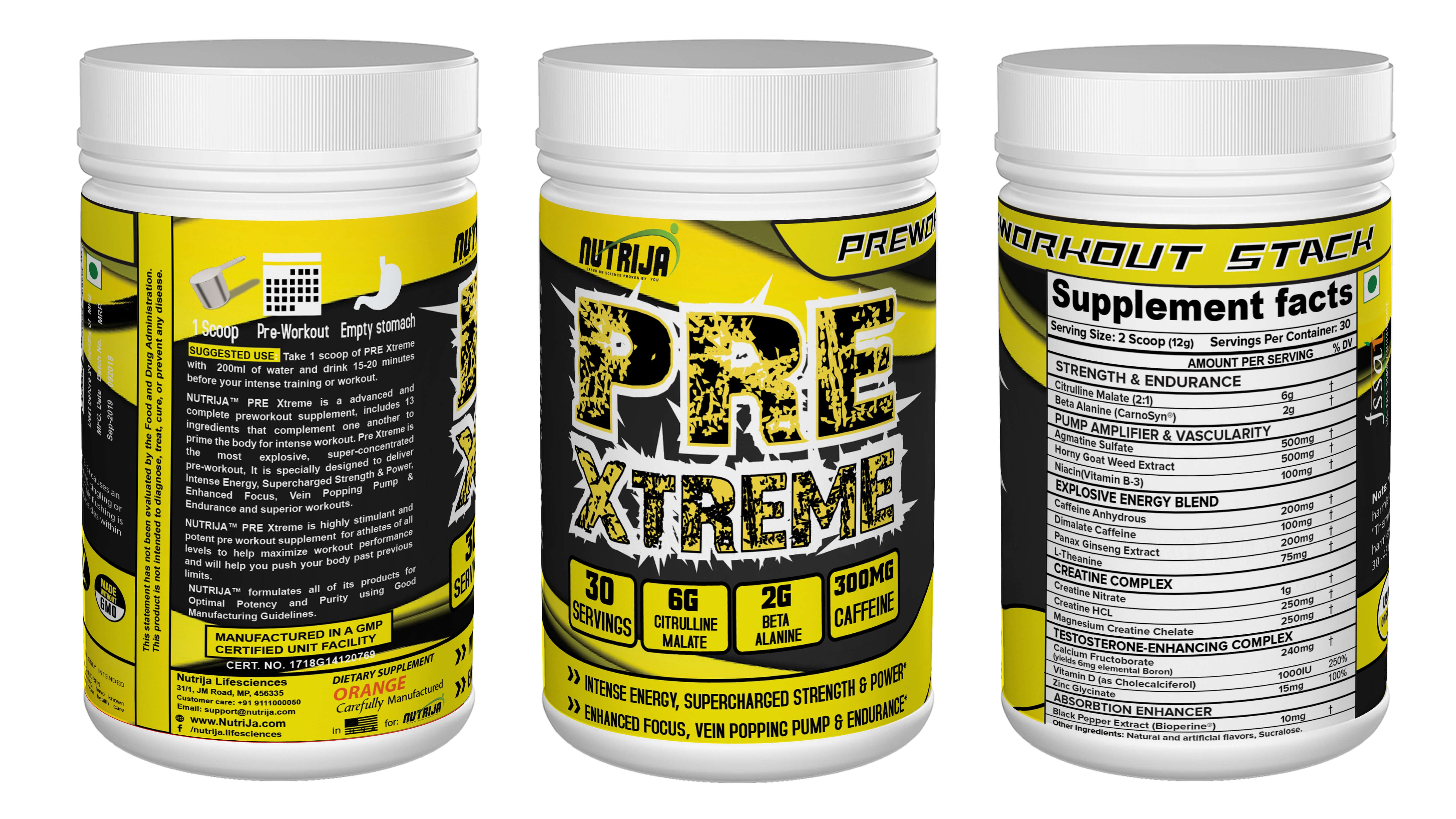 Pre Xtreme Pre Workout Supplement In India Nutrija