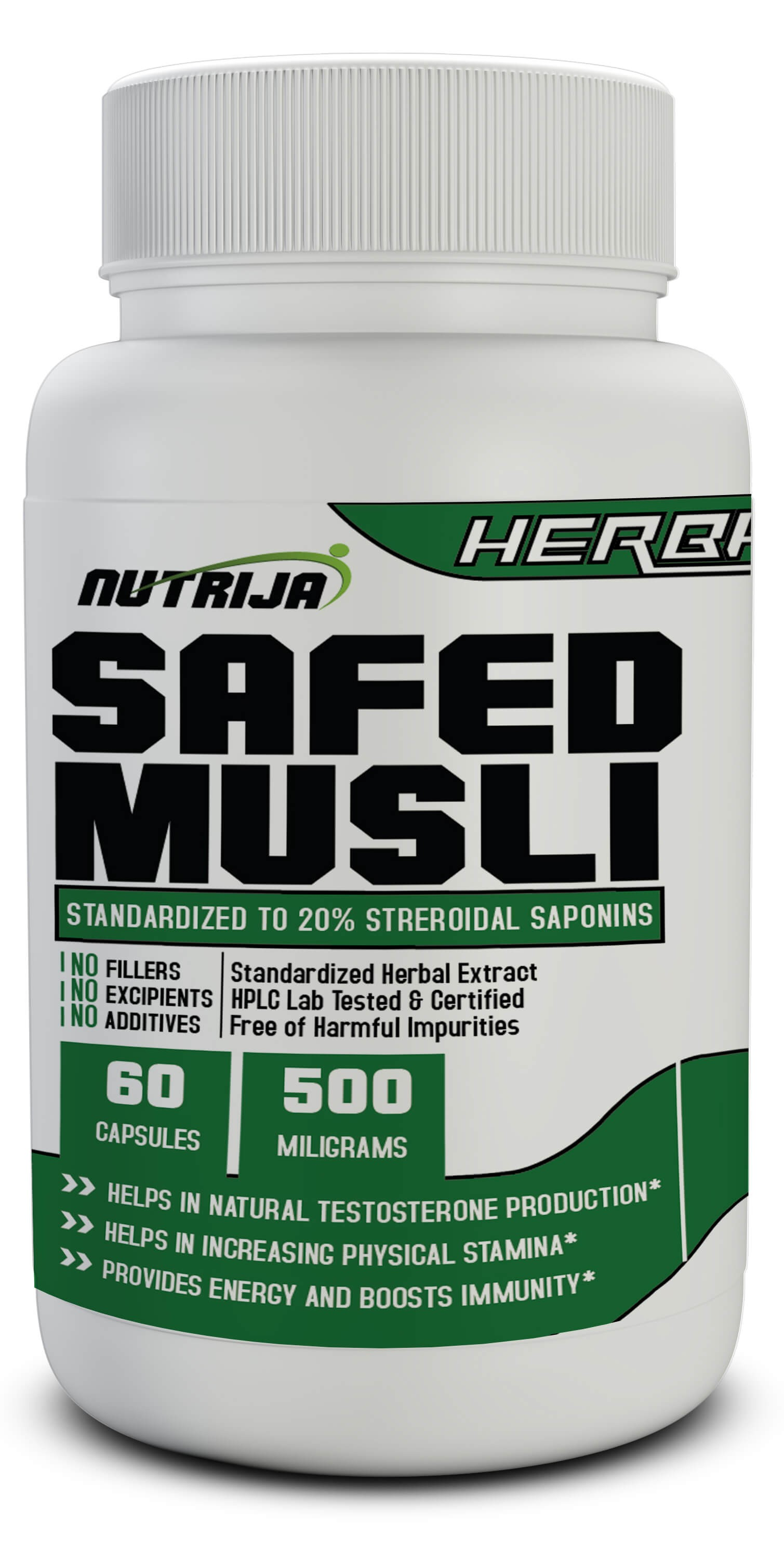 Buy Safed Musli Extract 500Mg Capsules in India NutriJa™ Supplement Store